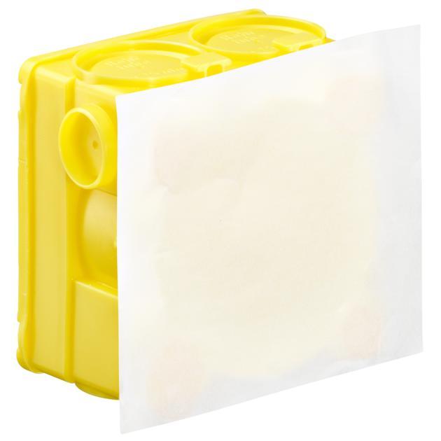 Inbouw-verbindingsdoos met pleisterhuid en speciale kleefstof