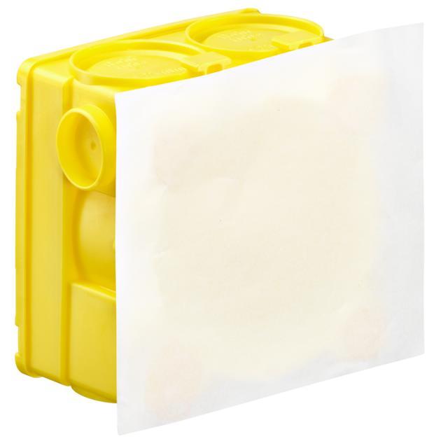Inbouw-verbindingsdoos zonder pleisterhuid en speciale kleefstof